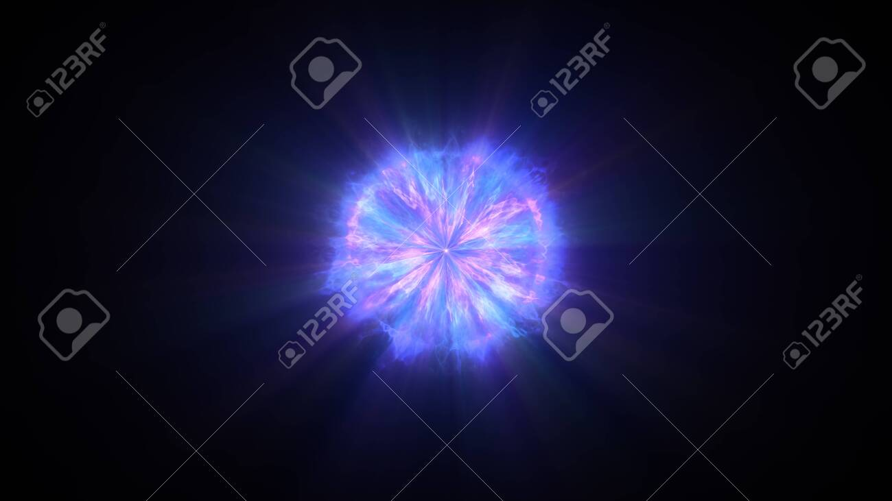 Colorful shock wave consisting particles  VFX elements, Graphic