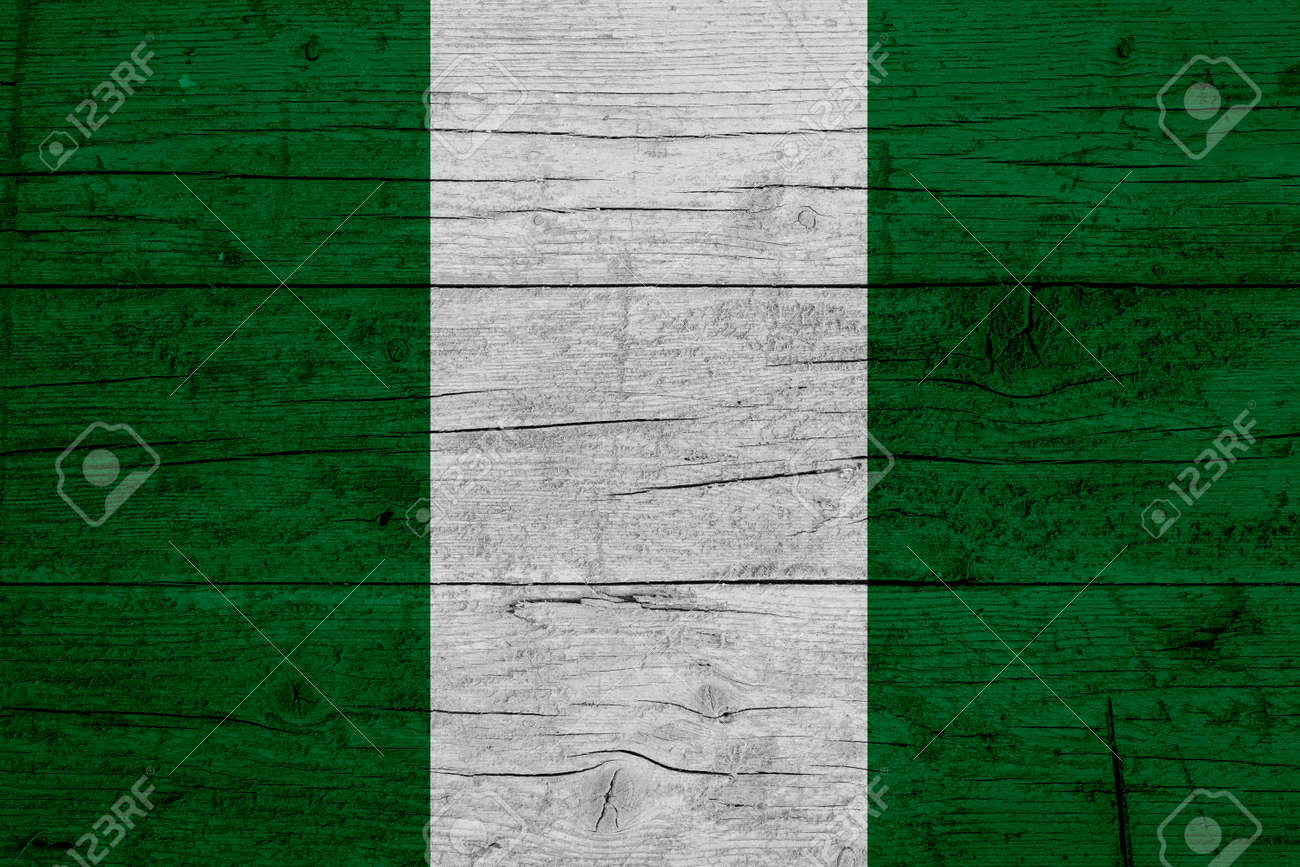 Flag of Nigeria. Wooden texture of the flag of Nigeria. - 171958651