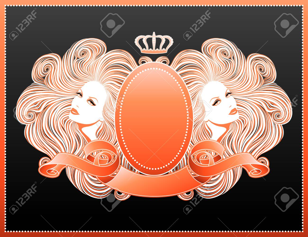 Glamour forever. Beautiful vector illustration. Stock Vector - 9183677