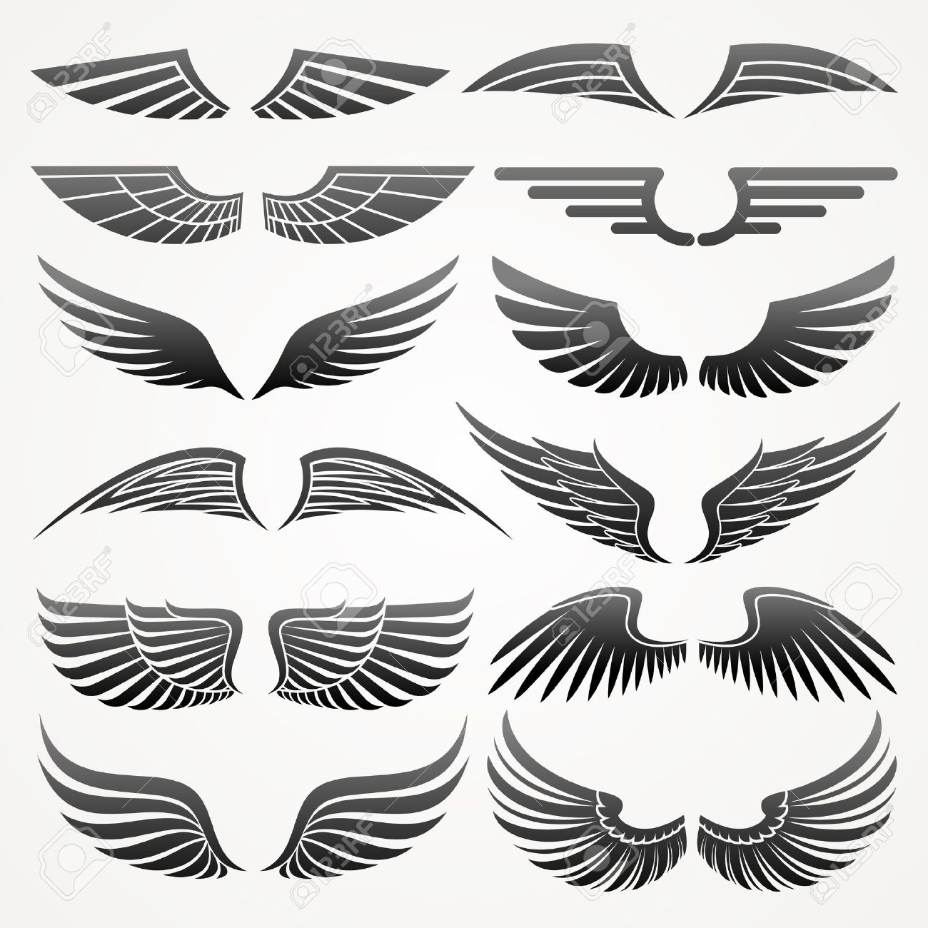 wings design Wi   Eagle Wings Logo