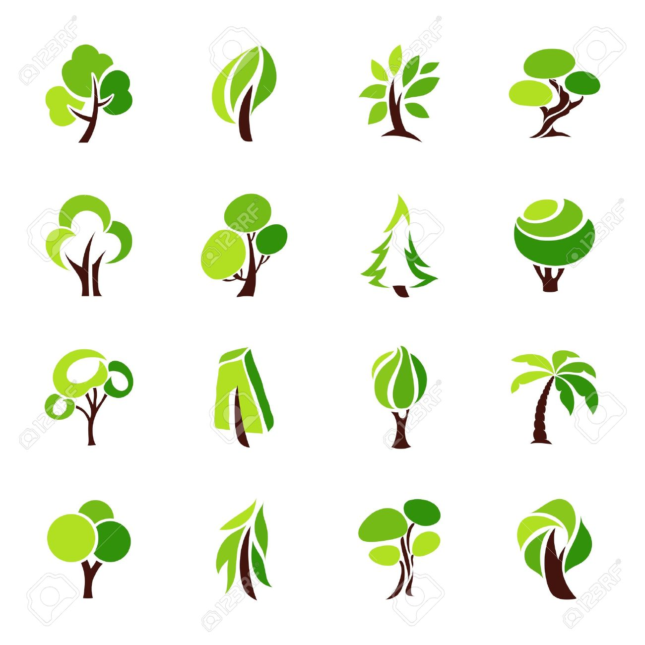 trees vector logo template set royalty free cliparts vectors and rh 123rf com free vector treasure map free vector tree images