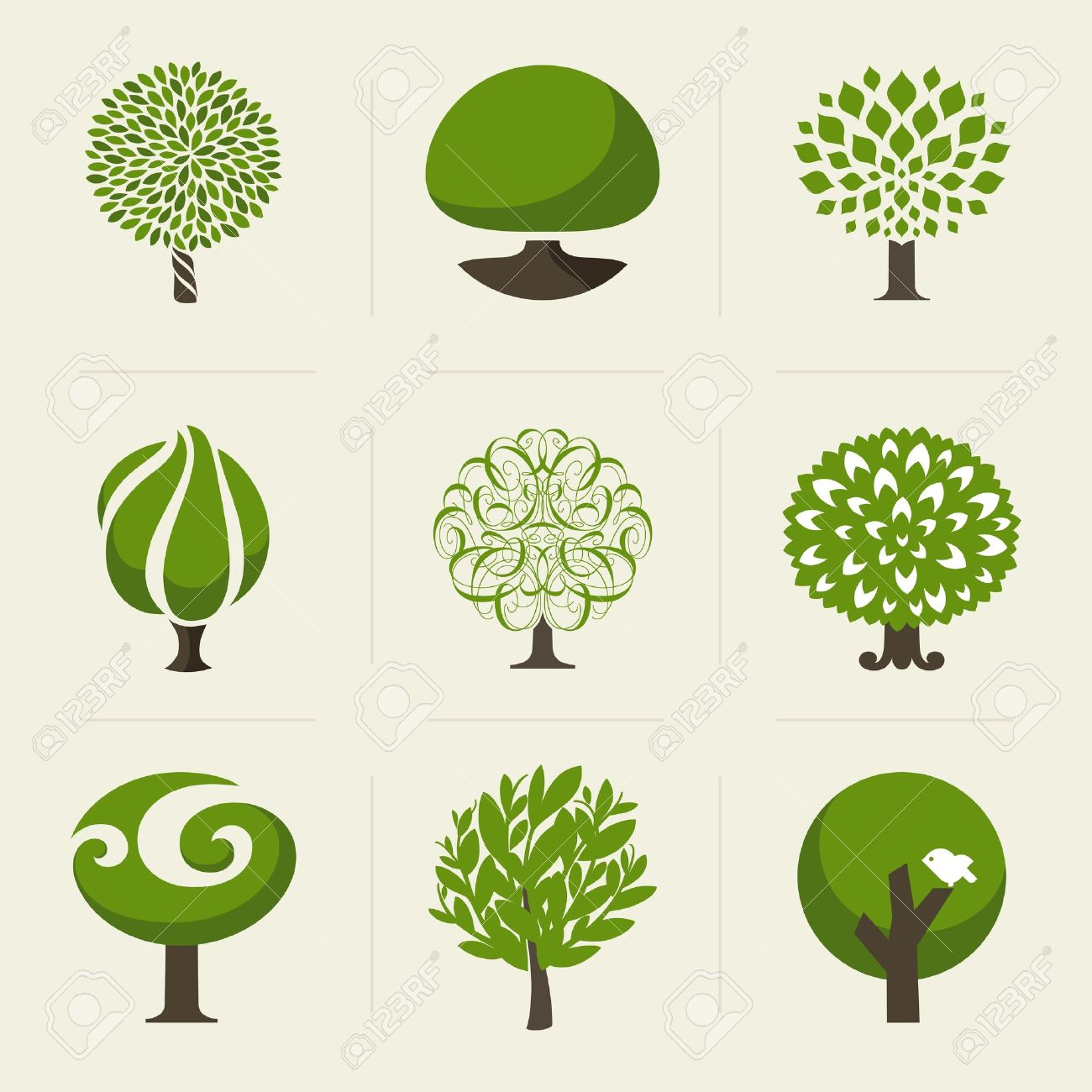 Tree - Collection of design elements Stock Vector - 21077259