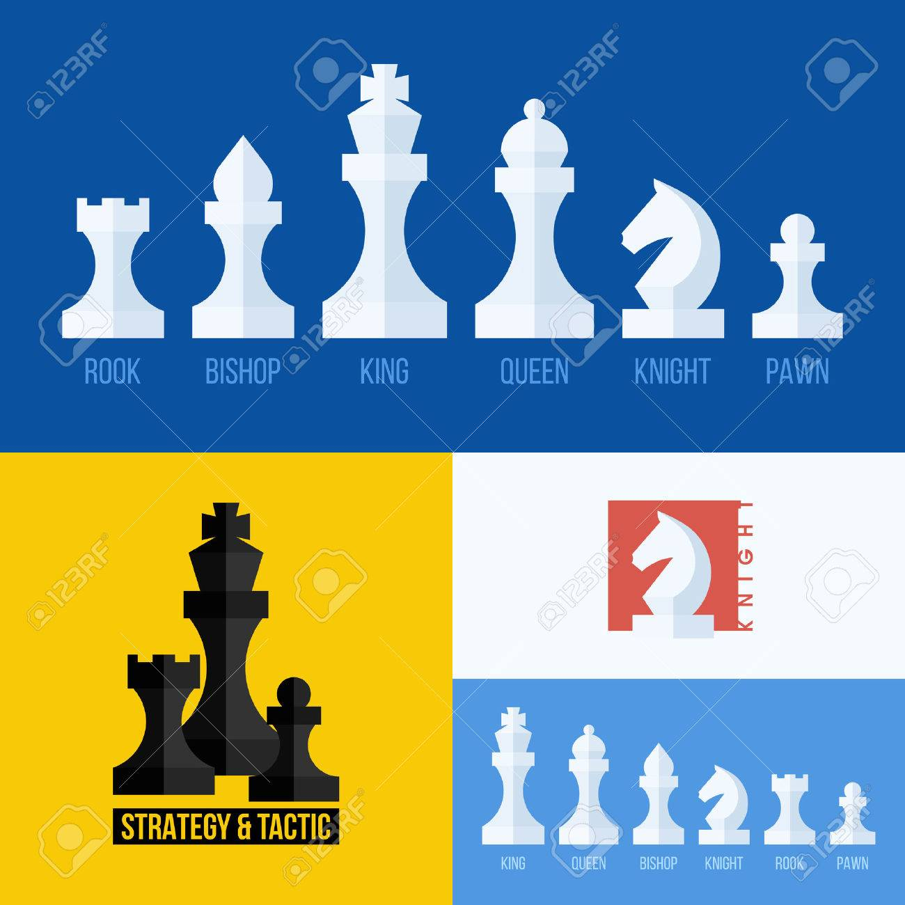 Chess pieces stock photos royalty free business images modern flat set of chess icons biocorpaavc Gallery