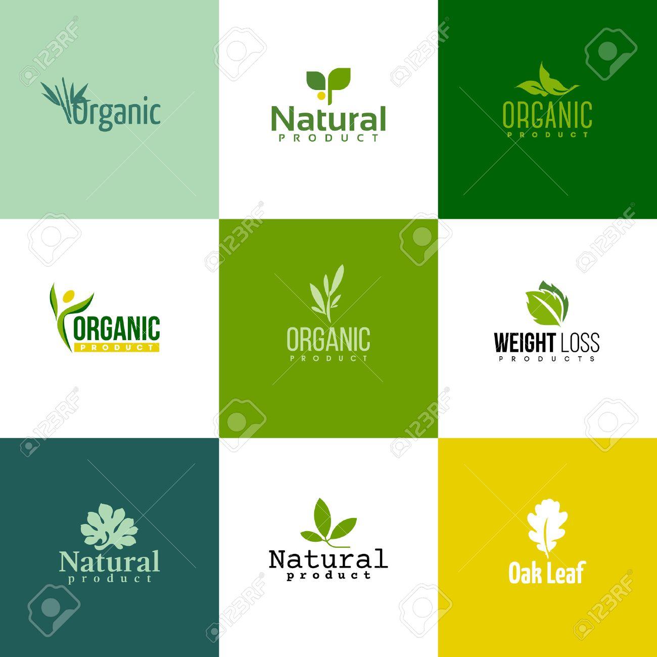 Conjunto De Moderno Plantillas De Productos Naturales Y Orgánicos ...