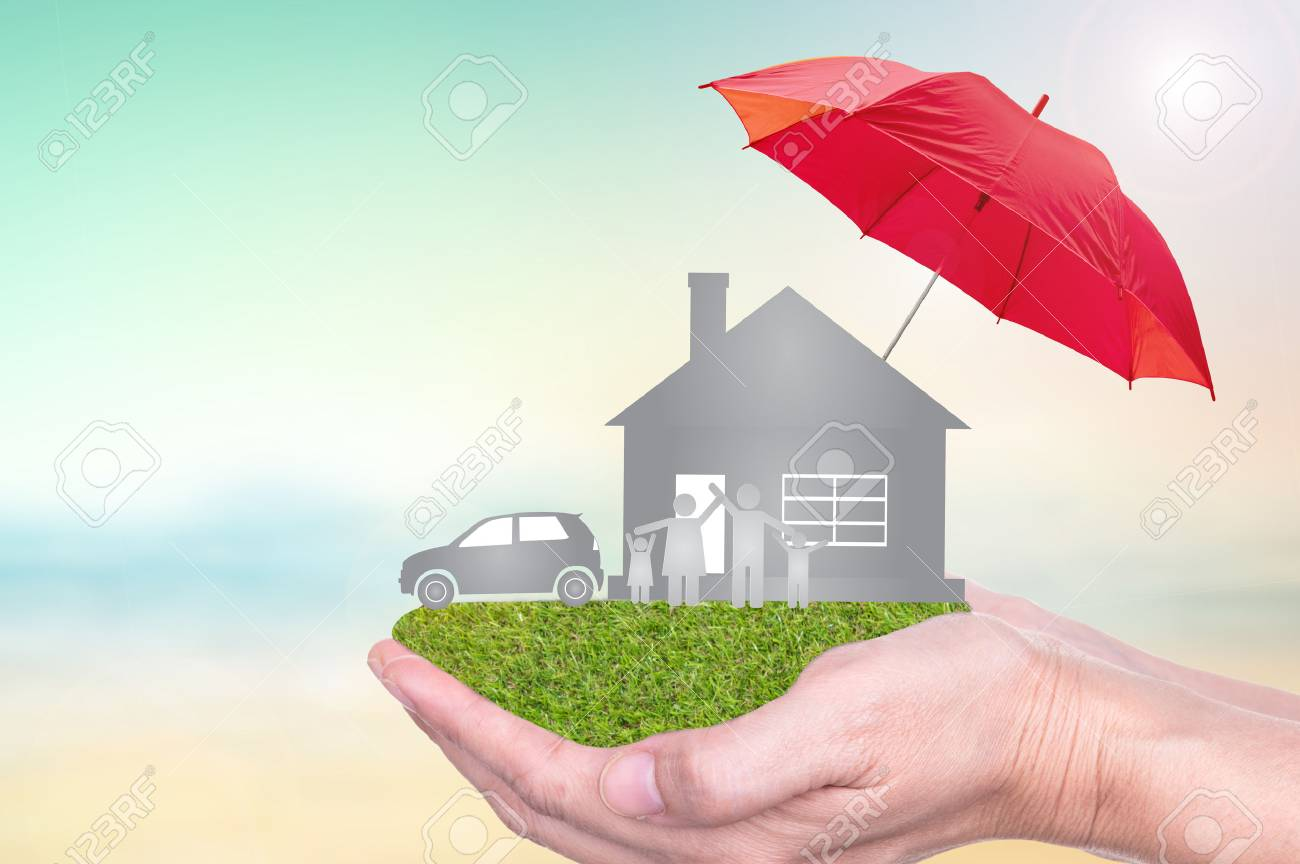 Car And Home Insurance >> Insurance Concept Of Car Insurance Life Insurance Home Insurance