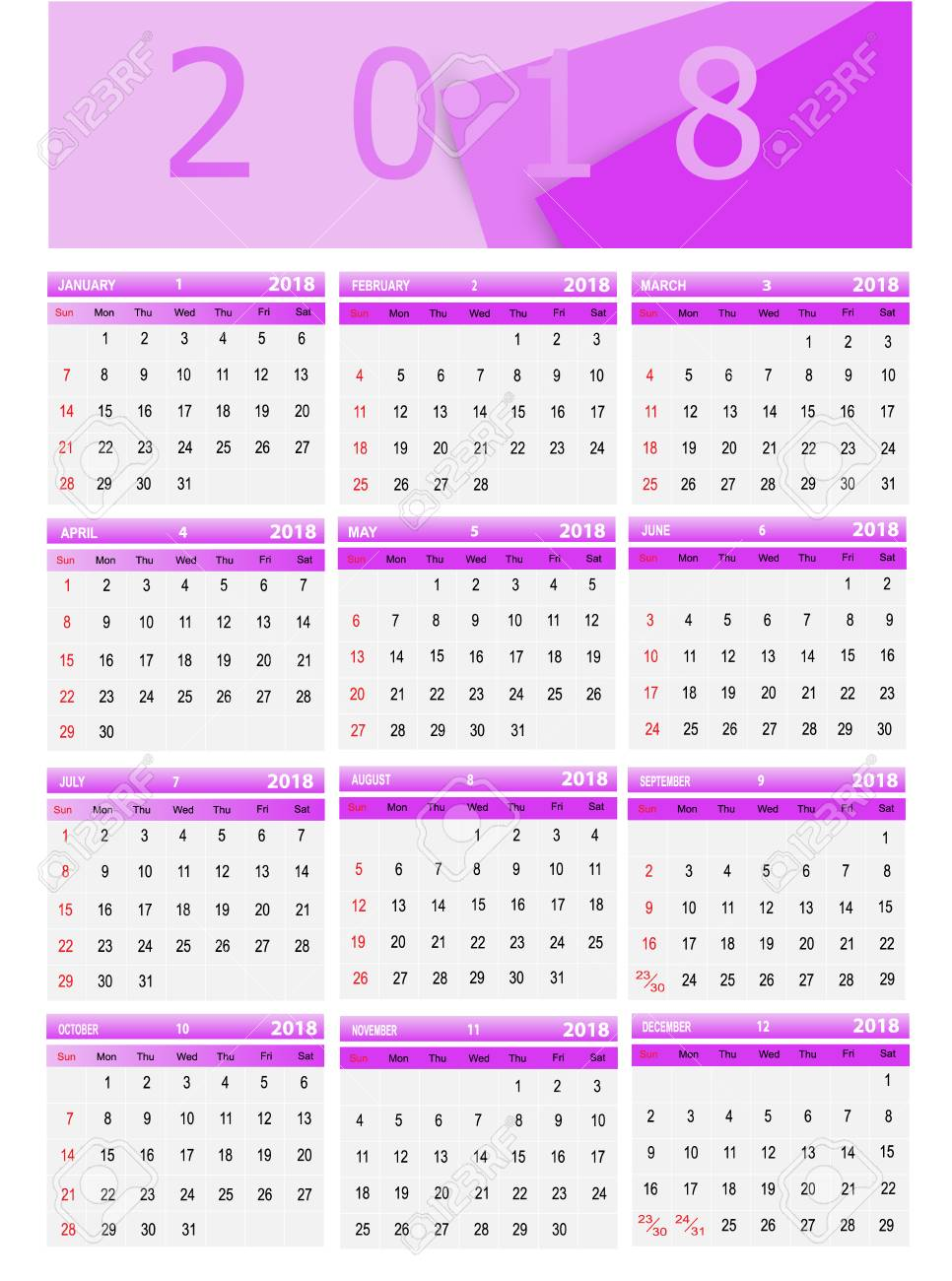 Vector Illustration Template Calendar Can Be Used In Stock - Public relations calendar template