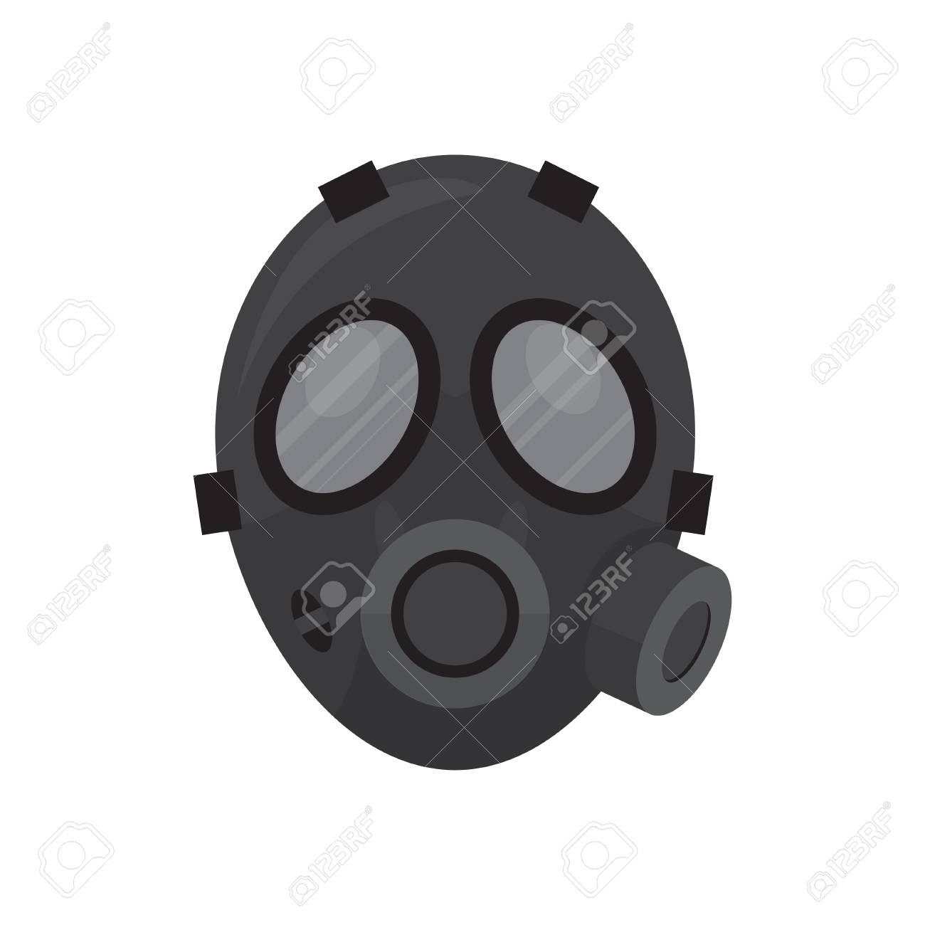 black respirator mask