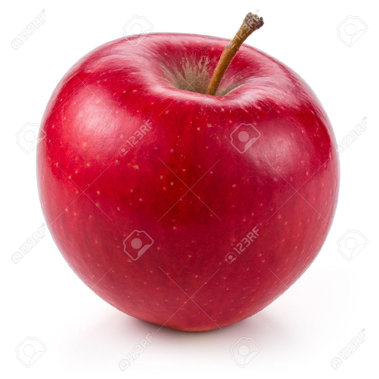 Fresh red apple isolated on white. With clipping path - 50417381