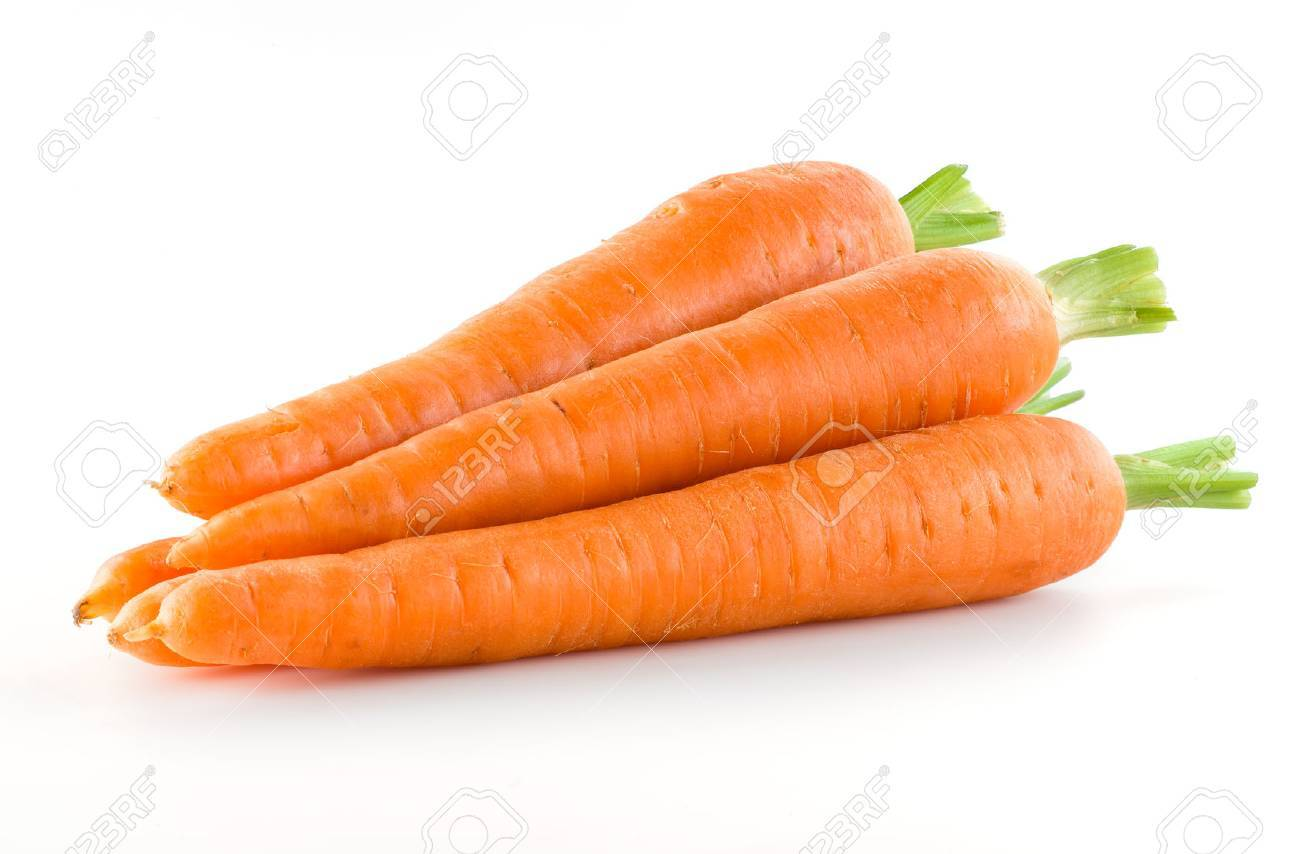 Carrot. Heap of vegetable isolated on white - 53405200