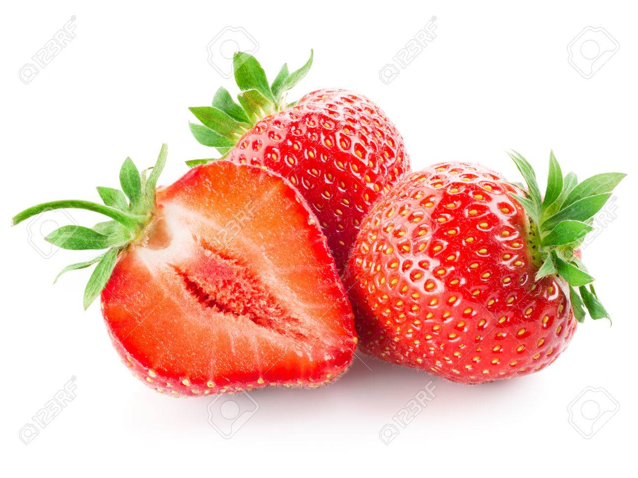 Fresh strawberry isolated on white - 54252986