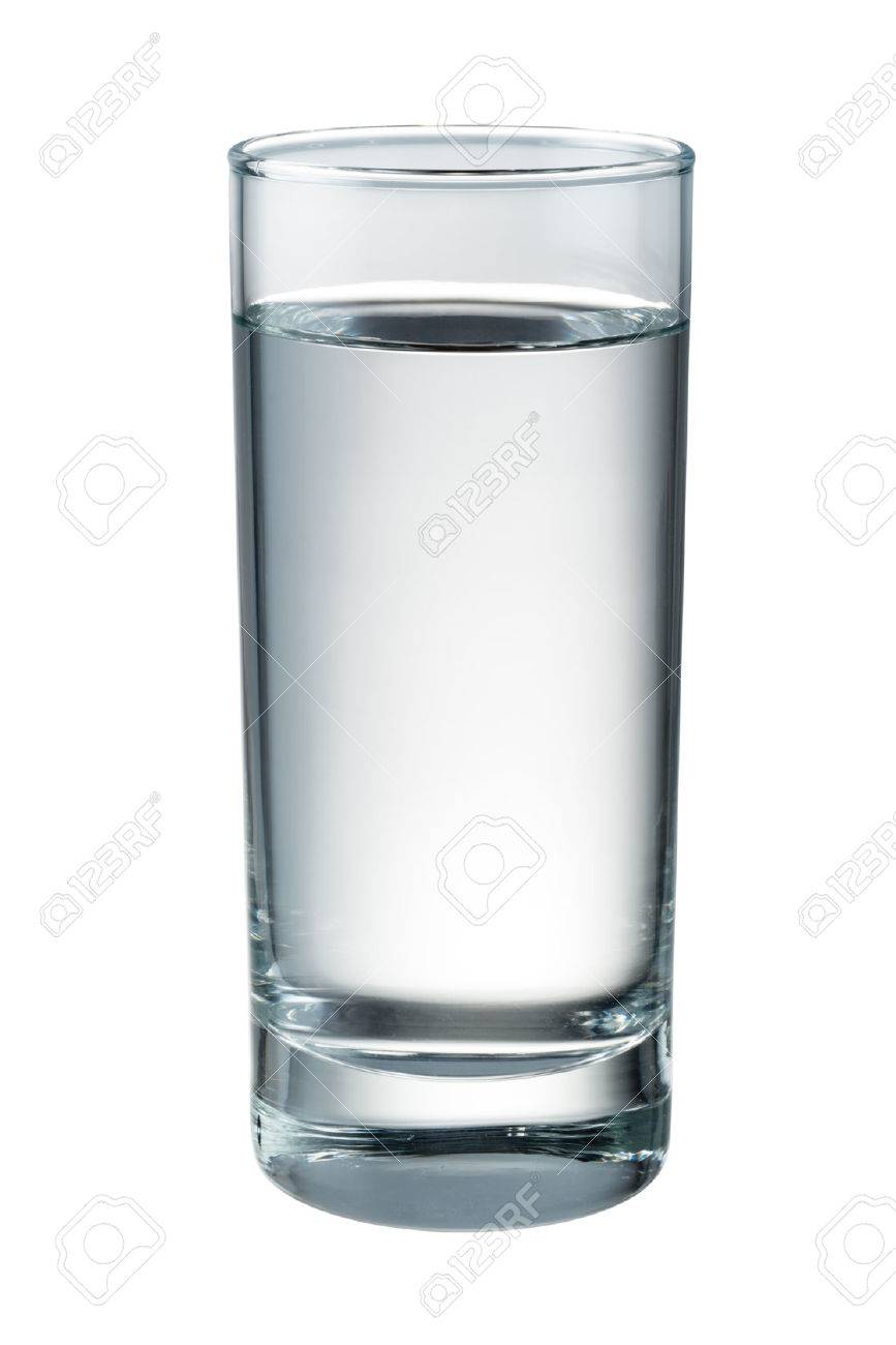 Water glass isolated. With clipping path - 54252997
