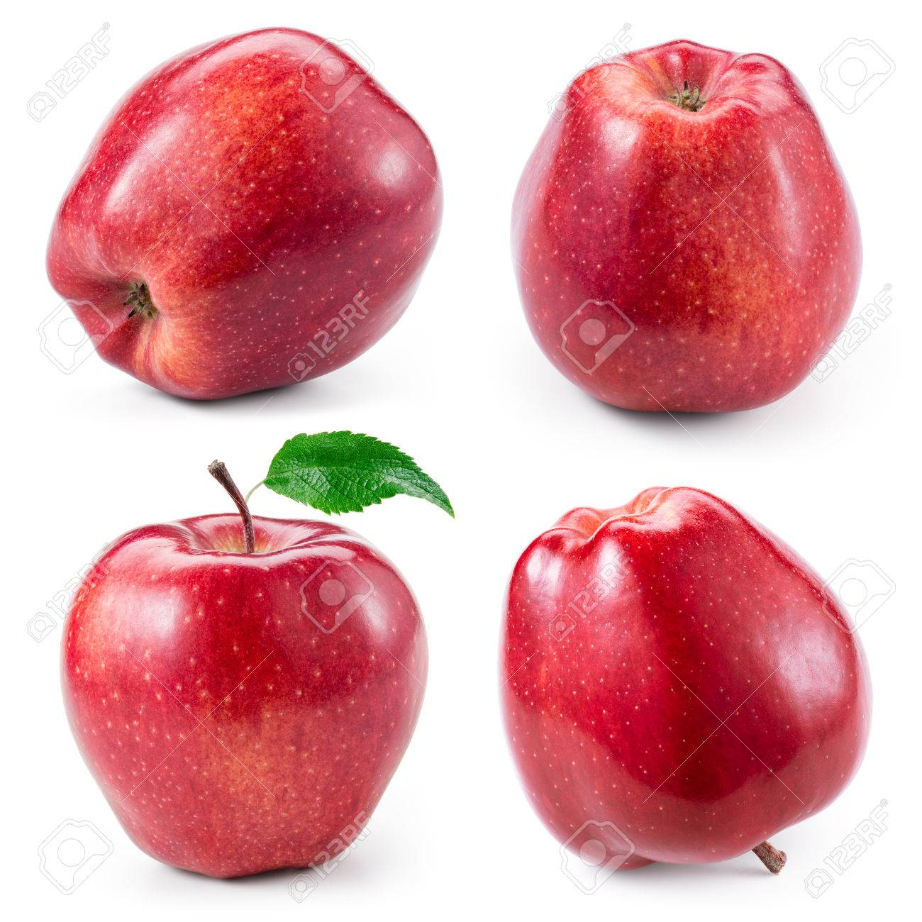 Red apple isolated on white. Collection. With clipping path - 55429149