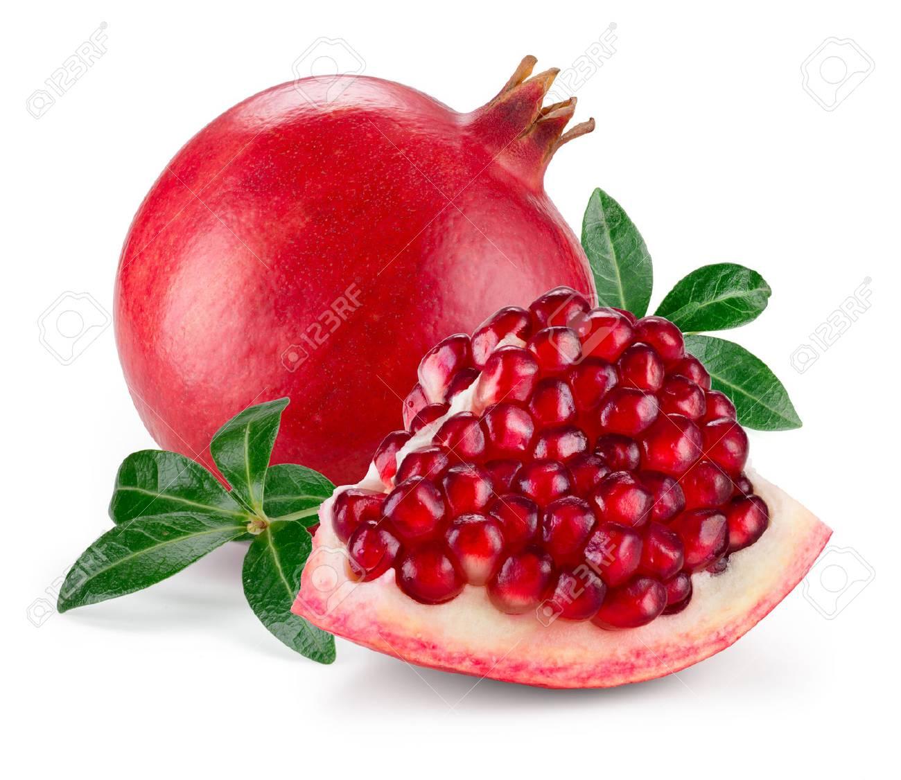 Pomegranate isolated on white background - 59831038