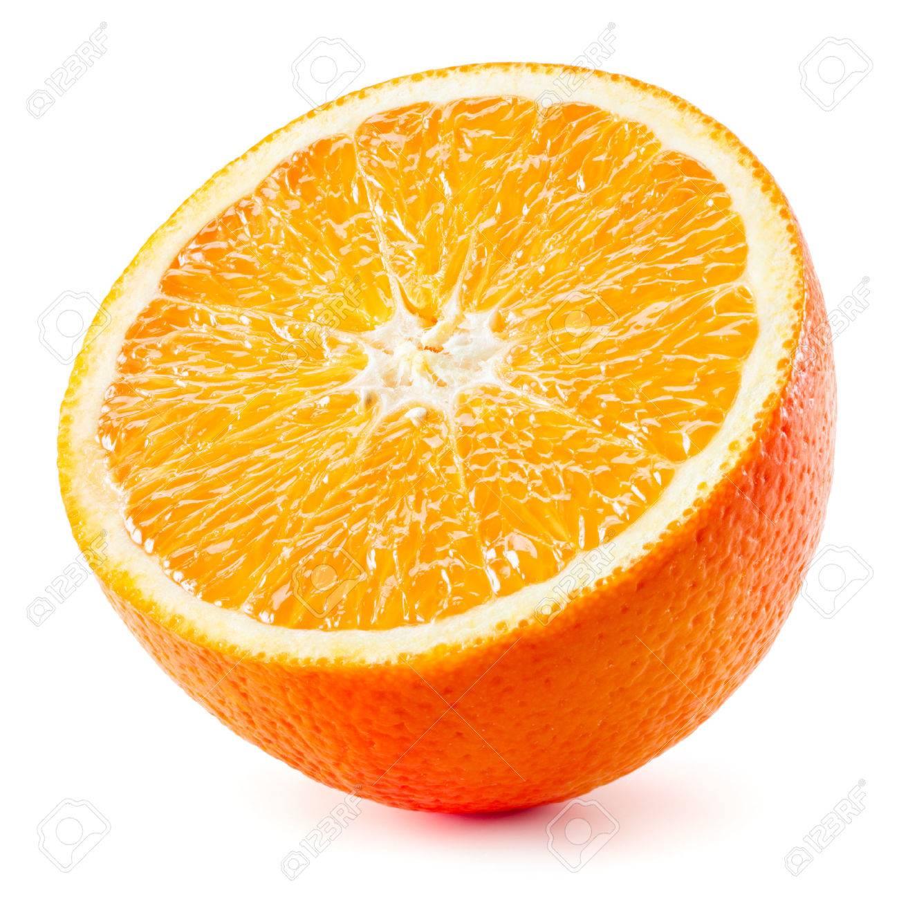 Orange half. Fruit isolated on white background - 59196958