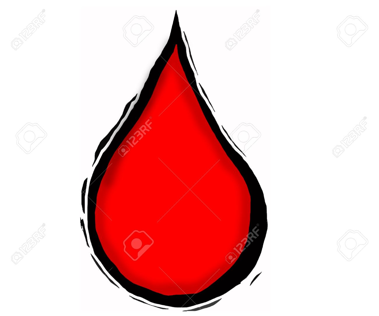 blood drop clipart red in colour with 3d effect stock photo picture rh 123rf com Blood Drop Clip Art Black and White blood drop clipart png