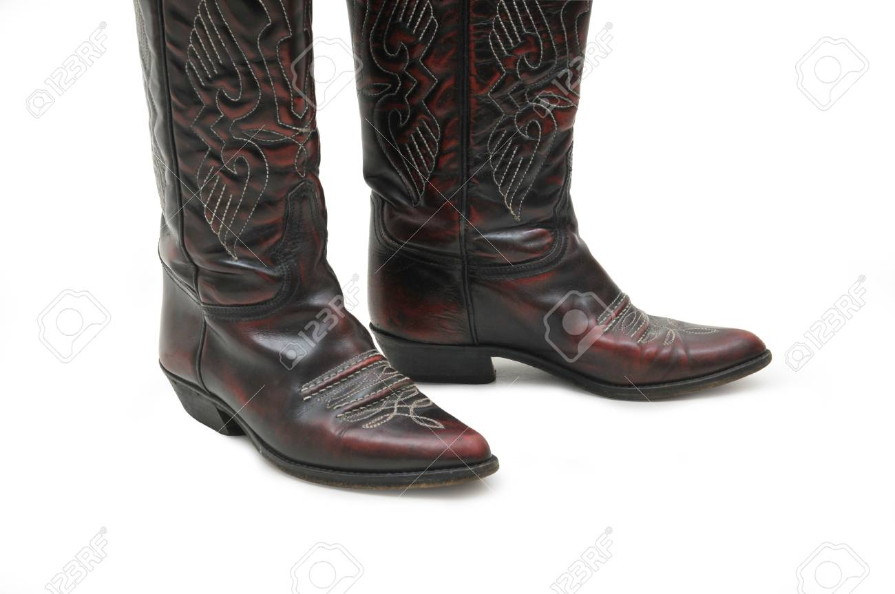 bd5d88feb5e Pair of cowboy boots isolated