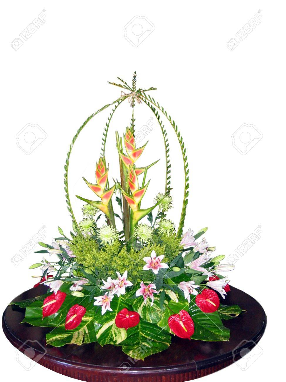 Exotic Flower Bouquet Isolated Stock Photo, Picture And Royalty Free ...