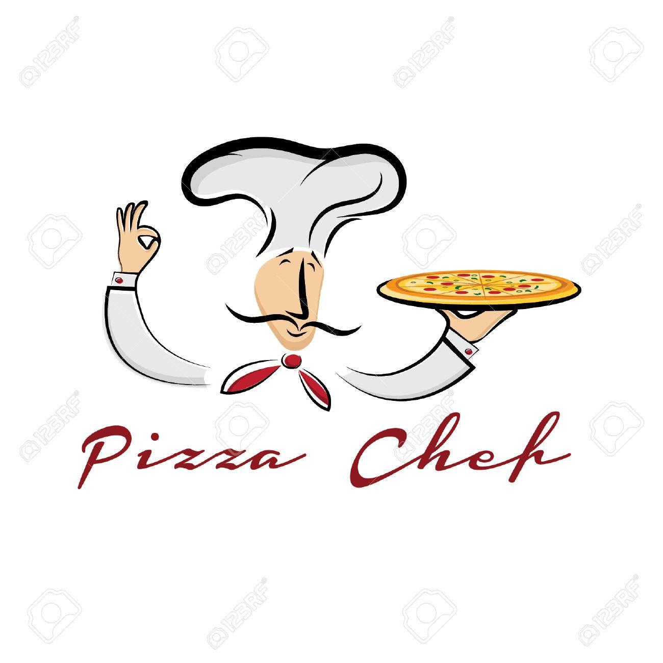 pizza chef cartoon illustration - 31845138