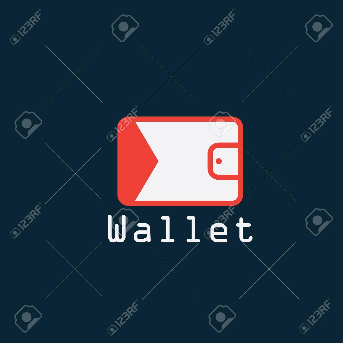電子財布フラットなデザインのベ...