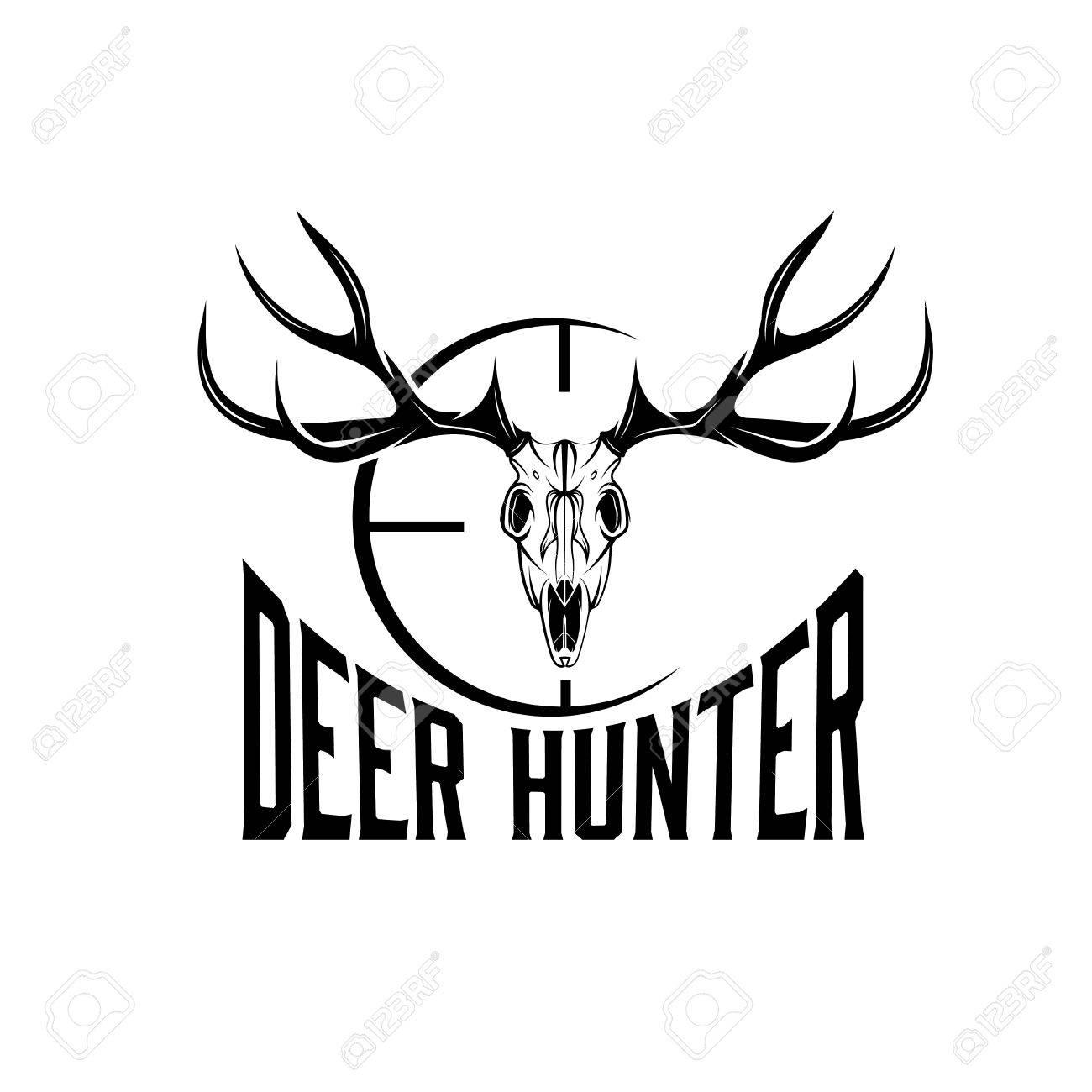 deer skull with target design template - 36045459