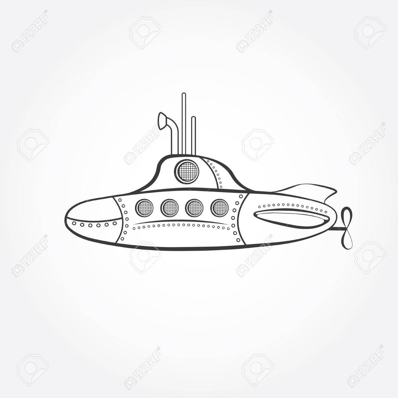 cartoon submarine vector design template royalty free cliparts