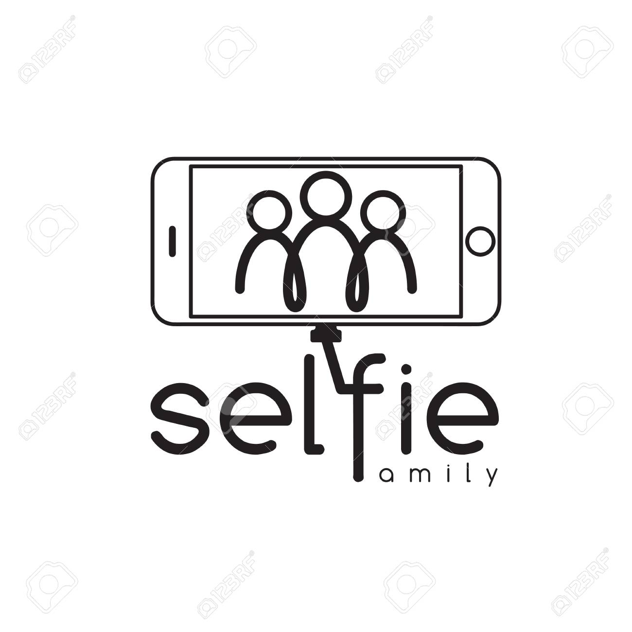 happy family selfie design template royalty free cliparts vectors