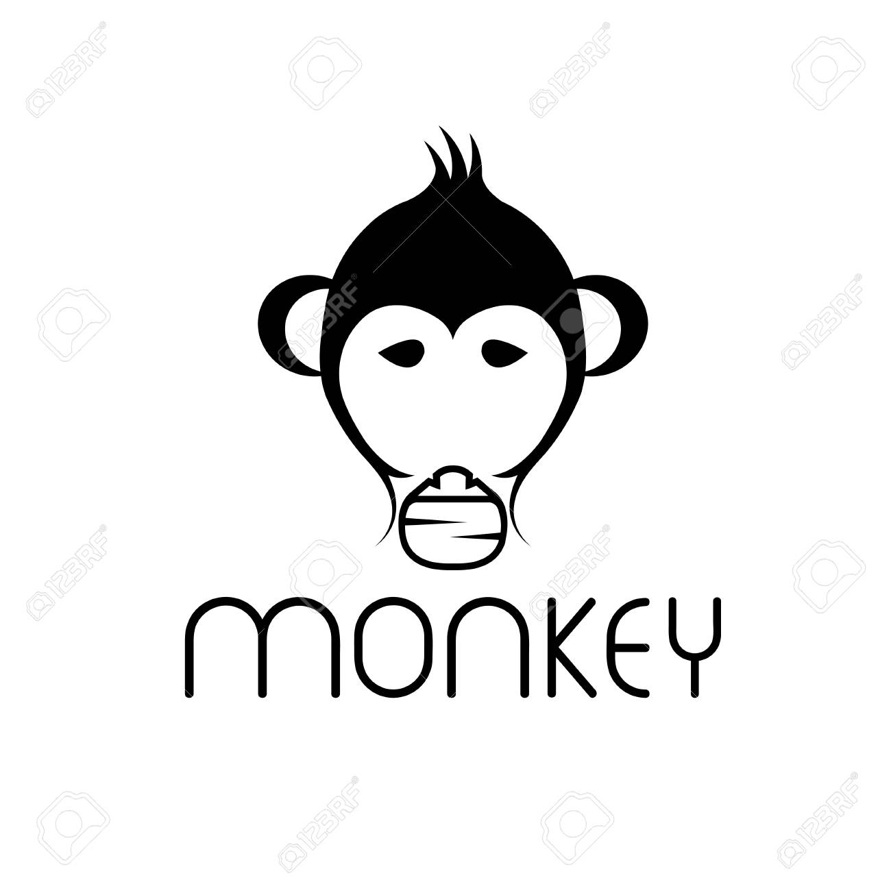 monkey vector design template royalty free cliparts vectors and