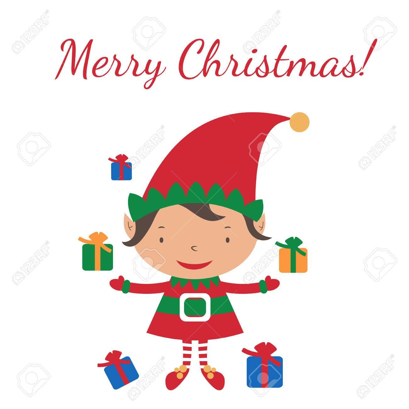 christmas elf card template vector royalty free cliparts vectors