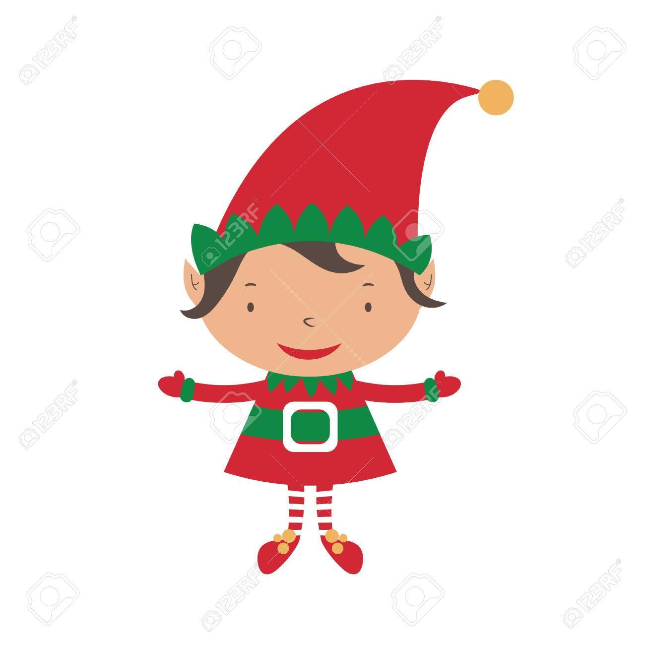 Christmas Elf Card Template. Vector Royalty Free Cliparts, Vectors ...