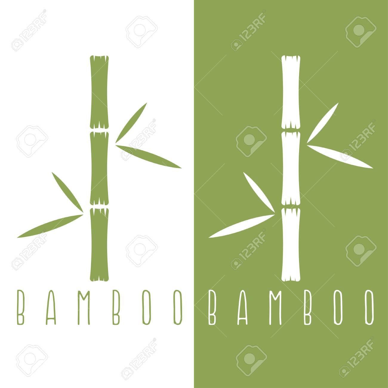 Bambou Vert Tiges Et Les Feuilles Modèle De Dessin Vectoriel