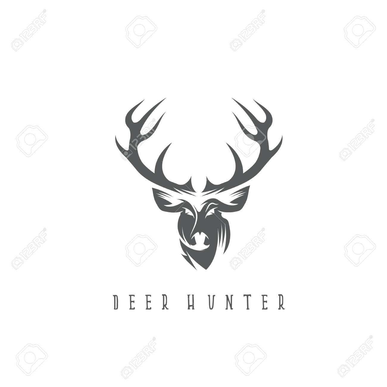 deer head vector design template hunting illustration royalty free