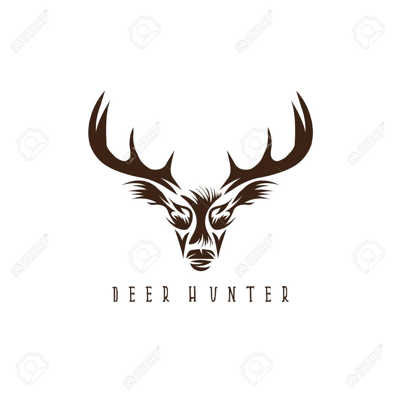 Deer Head Vector Design Template,hunting Illustration Royalty Free ...