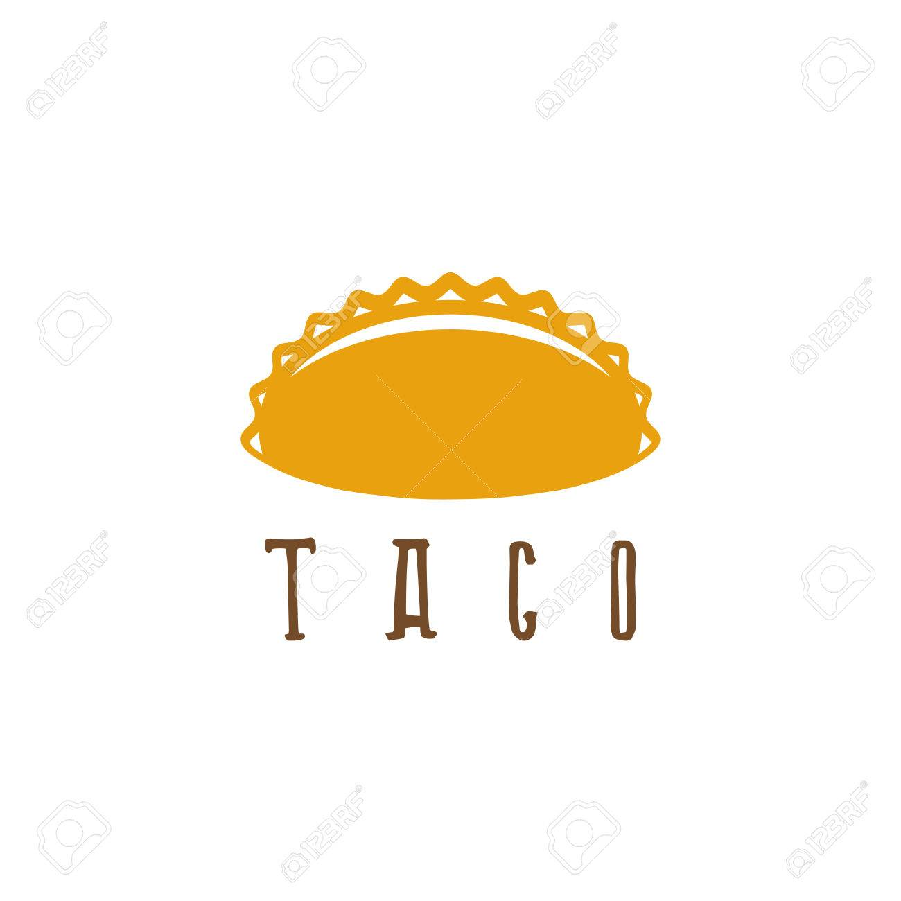 vector design template of taco mexican food royalty free cliparts