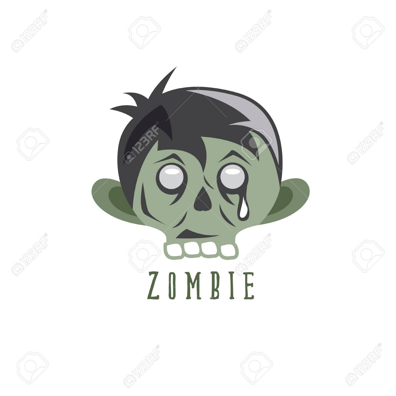 vector zombie cartoon face abstract vector design template