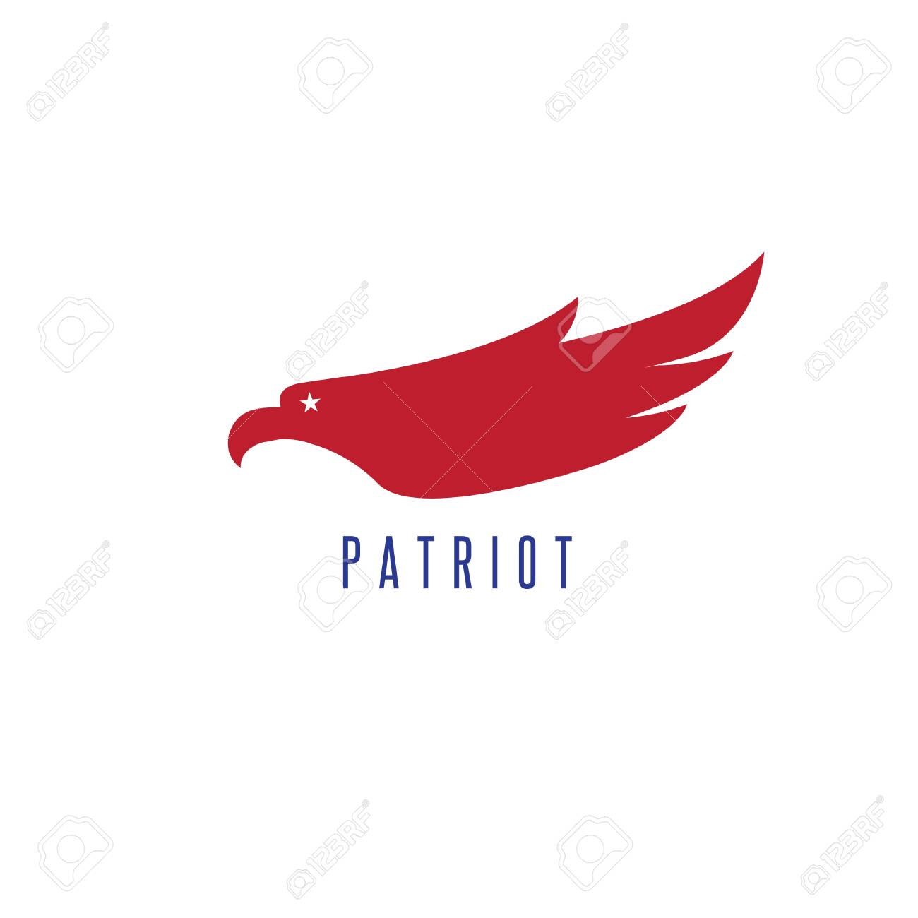 Design Template Of Abstract Patriotic Eagle Stock Vector