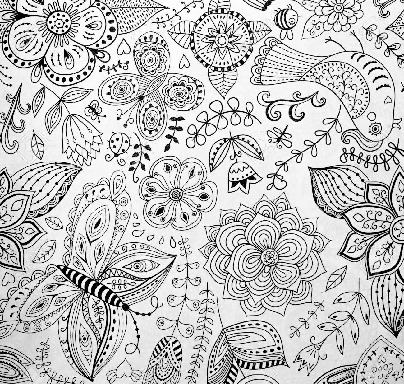 - Abstraction Coloring Pages For Adults,stress Relief, Top View