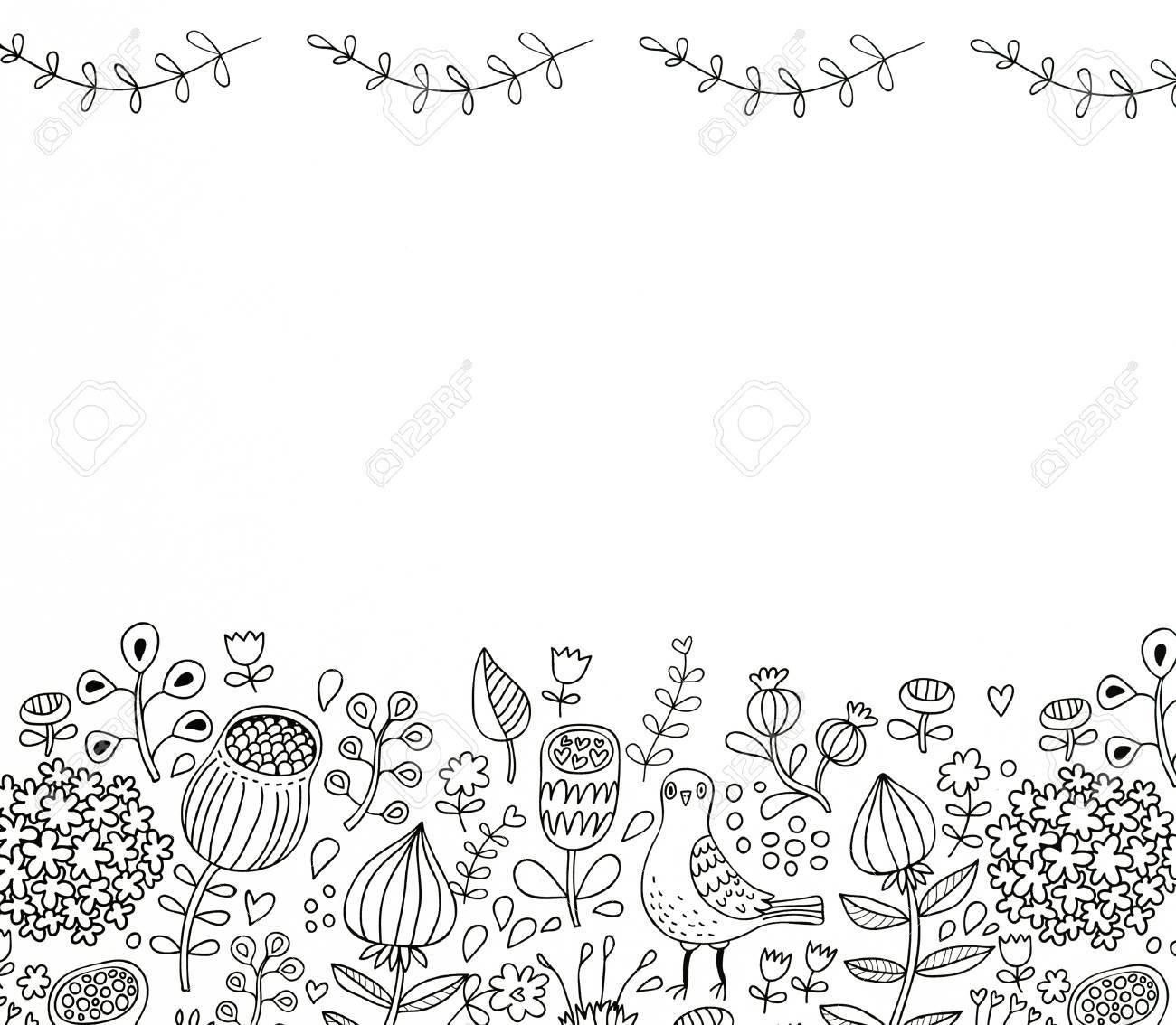 Abstracción Dibujo En Blanco Y Negro Colorear Para Los Adultos