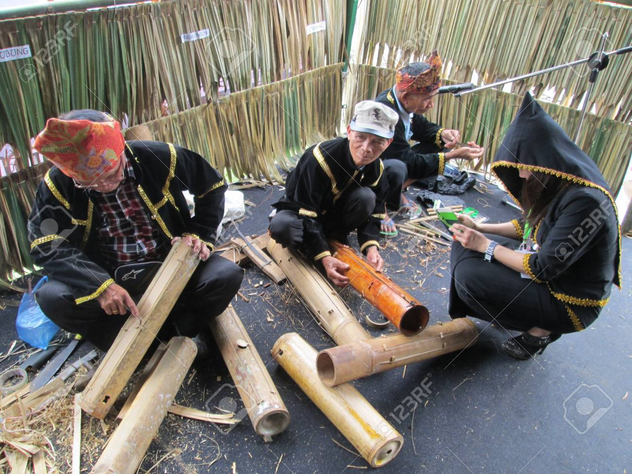 The music instruments maker in Sabah during the Harvest Festival