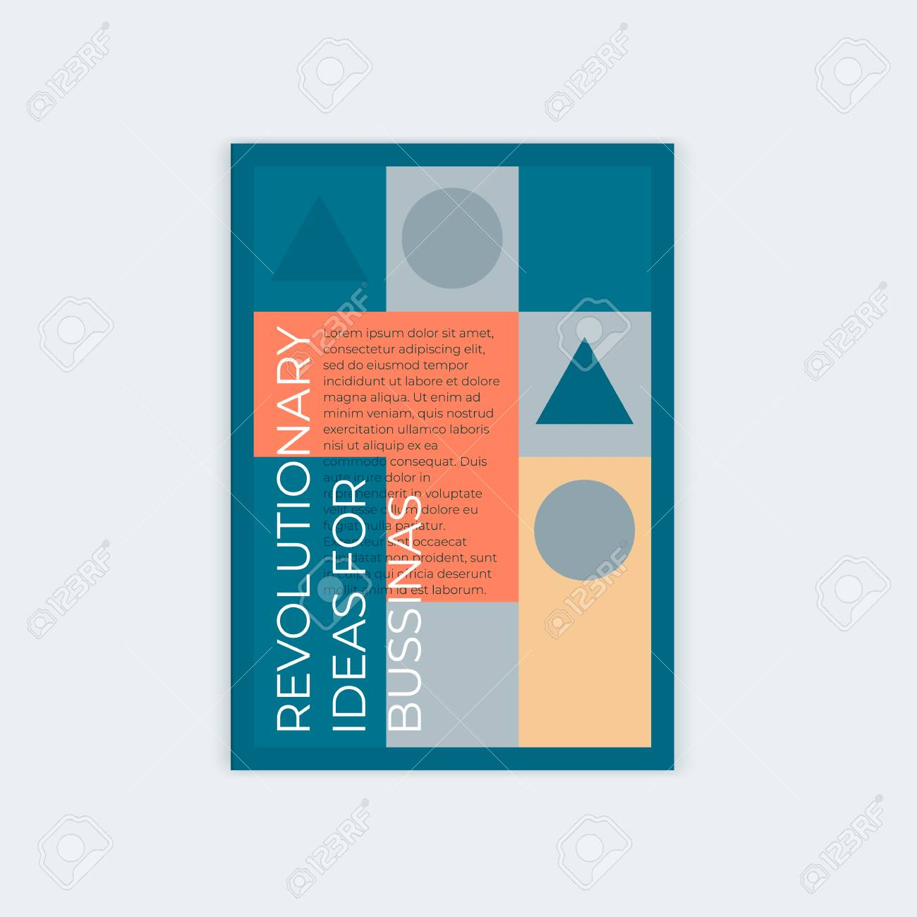 Template design for vertical abstract cover A4 with place for text. For the design of a booklet, a poster, leaflets, books. - 116769601