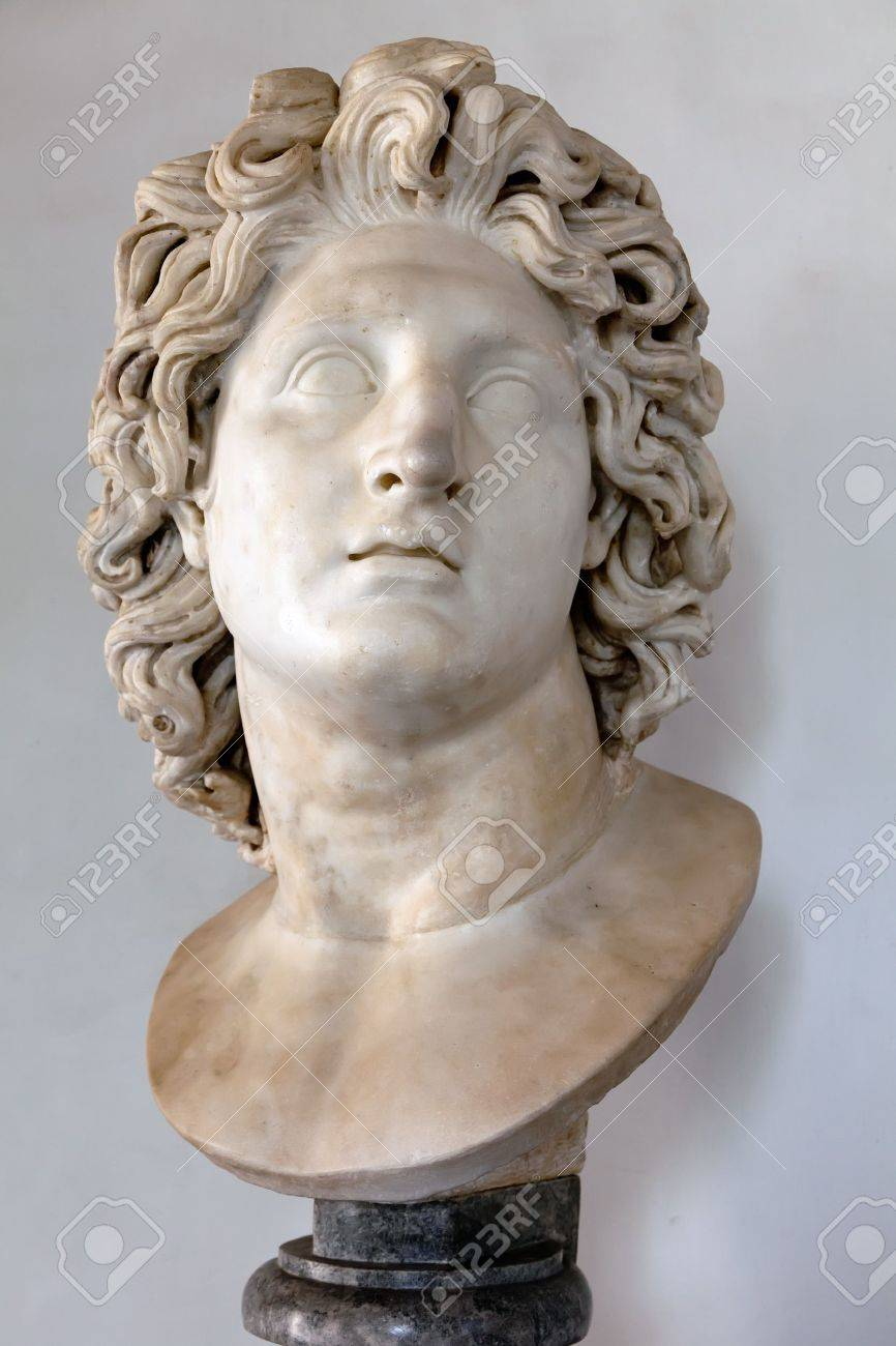 Roman marble copy of a portrait of Alexander the Great as the Sun God Helios    Stock Photo - 15132895