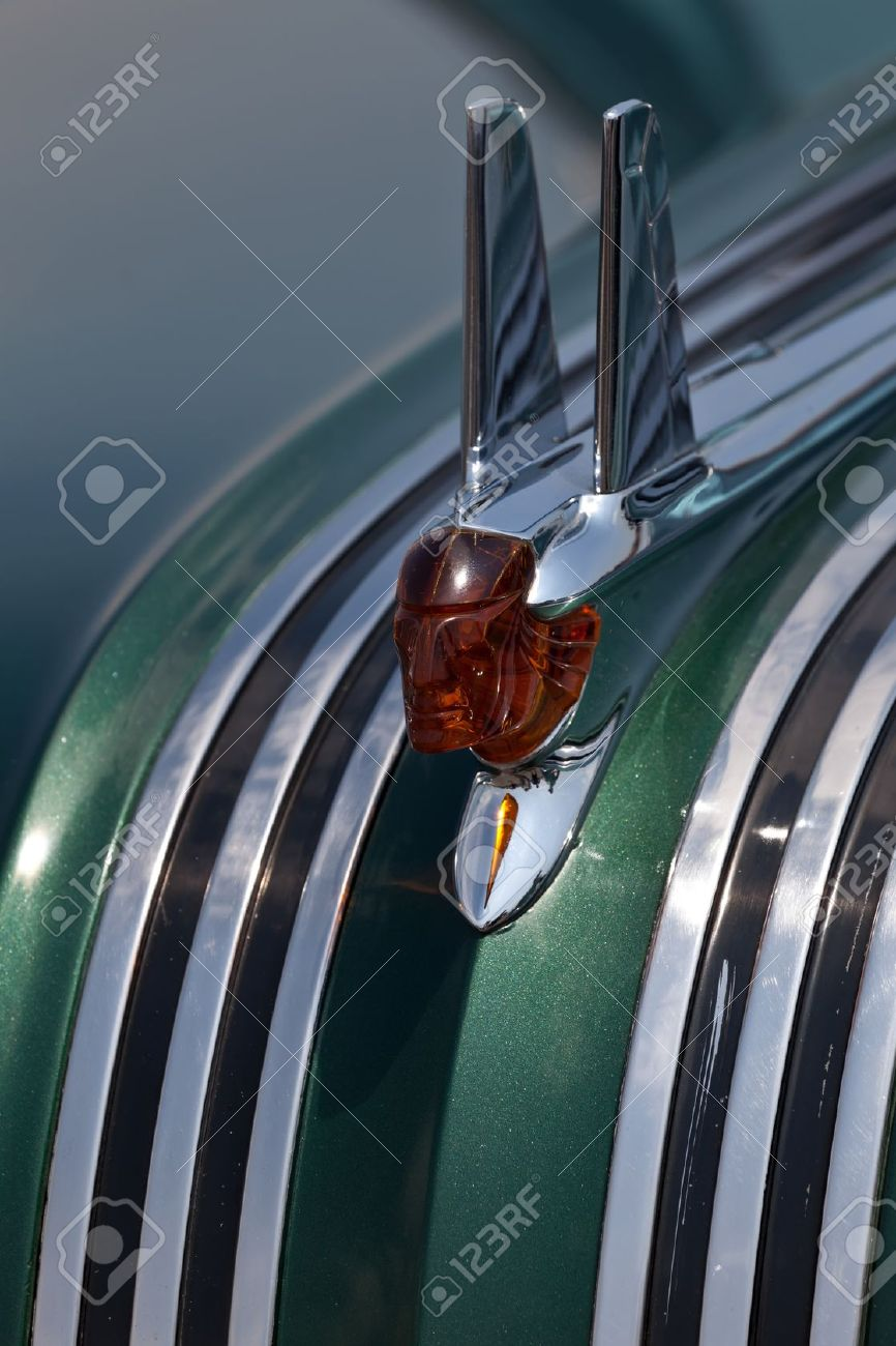 Closeup Of The Hood Ornament Of The 1953 Pontiac Chieftain At Stock Photo Picture And Royalty Free Image Image 15319533
