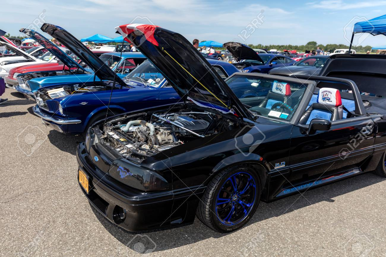 Brooklyn new york june 11 2017 a 1993 ford mustang gt on