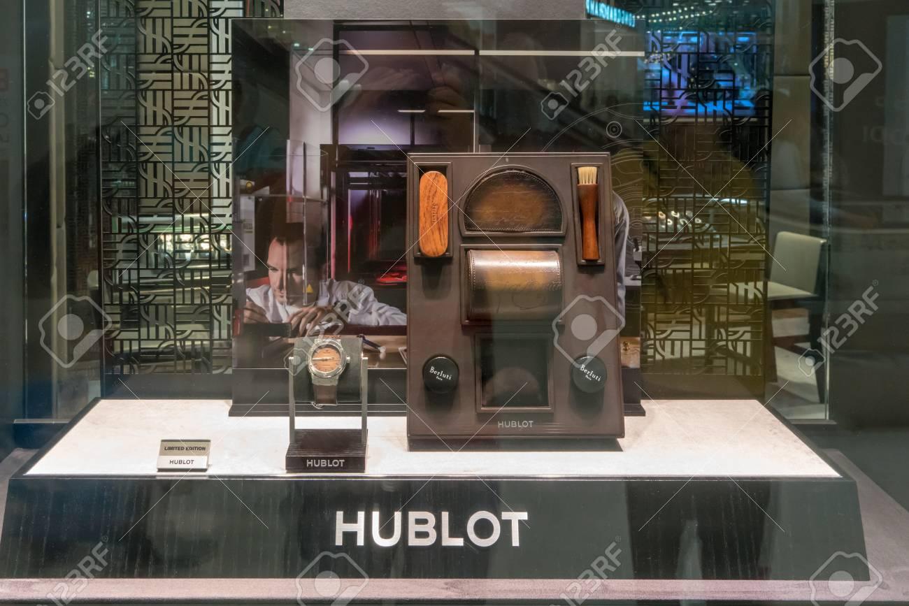 Hublot shop at Emquatier, Bangkok, Thailand, Nov 10, 2017 : Luxury