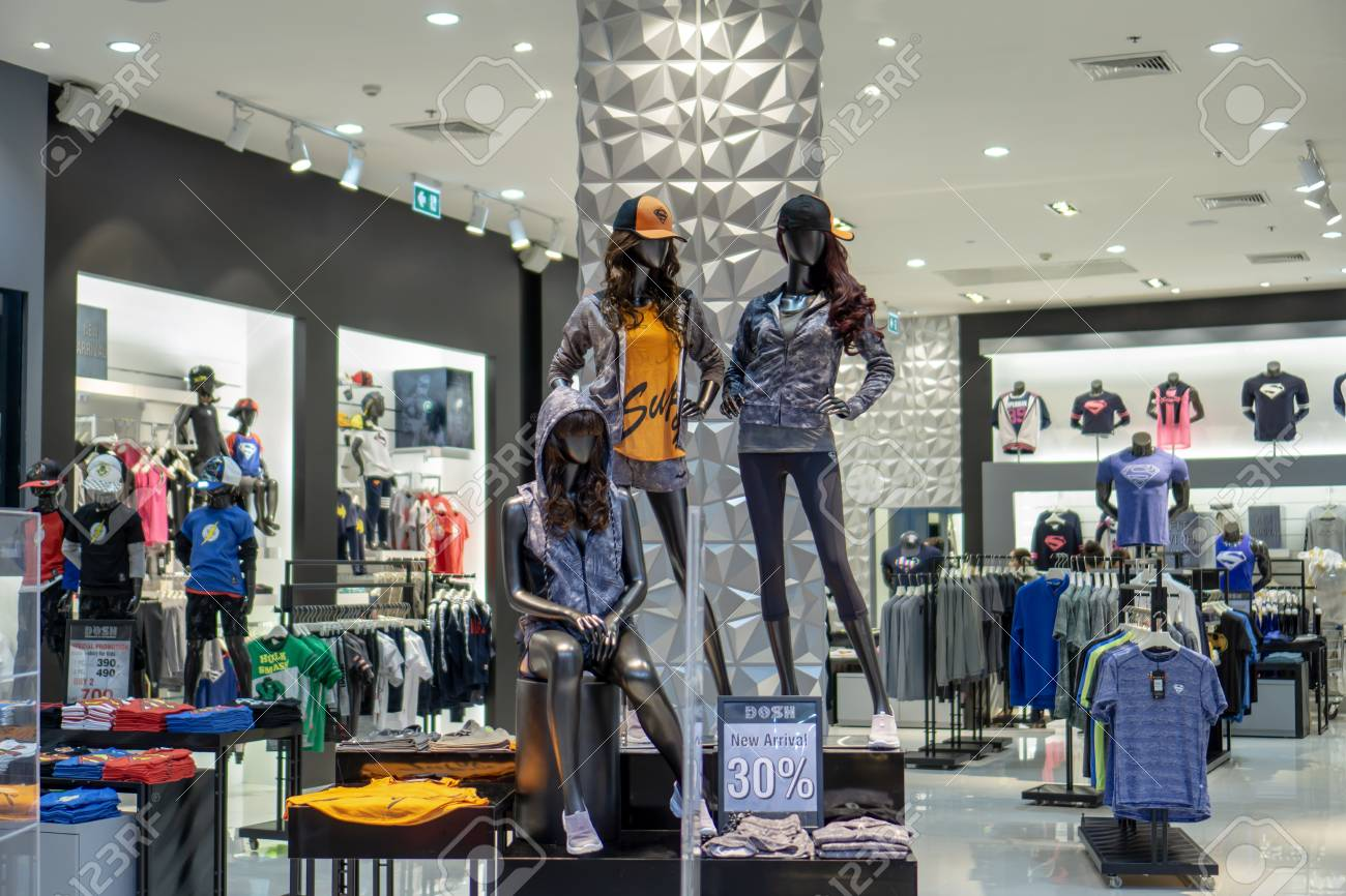 f8f94211 Stock Photo - DOSH shop at Mega Bangna, Bangkok, Thailand, Aug 30, 2017 :  Fashionable clothing brand for casual wears. Modern installation and  interior.