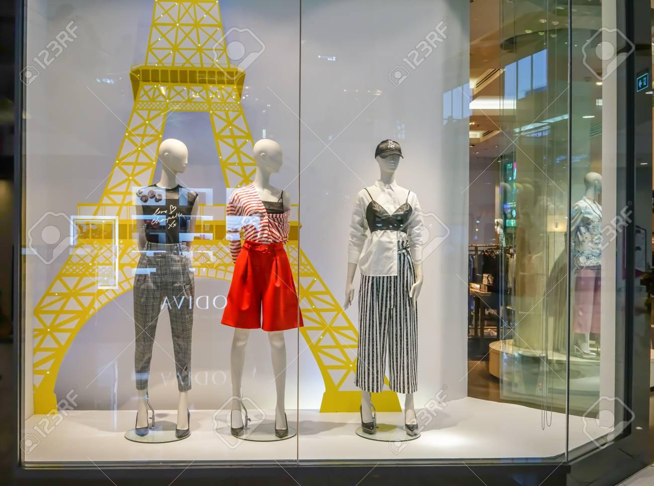 d4306e18 Stock Photo - Jaspal shop at Mega Bangna, Bangkok, Thailand, Jun 2, 2018 :  Fashionable brand window display. New collection of modern classic  clothings ...