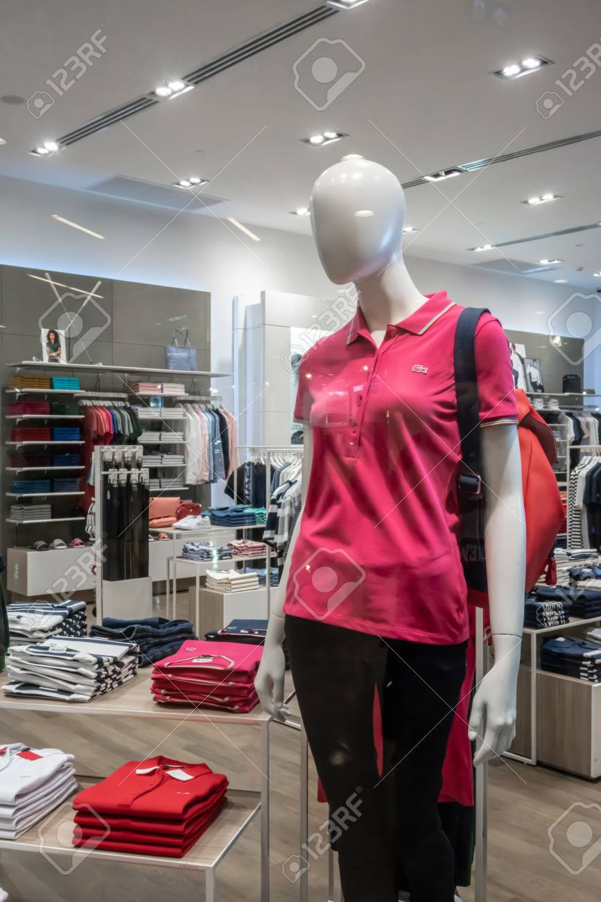 71201f10 Stock Photo - Lacoste shop at Central Rama 9, Bangkok, Thailand, Apr 30,  2018 : Fashionable clothing and sportswear brand. Store interior and  product ...