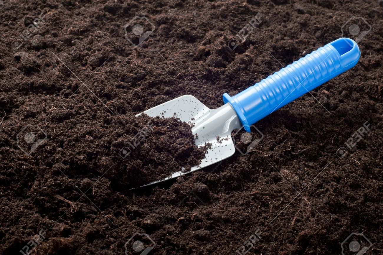 Garden Shovel And Dirt Stock Photo Picture And Royalty Free Image