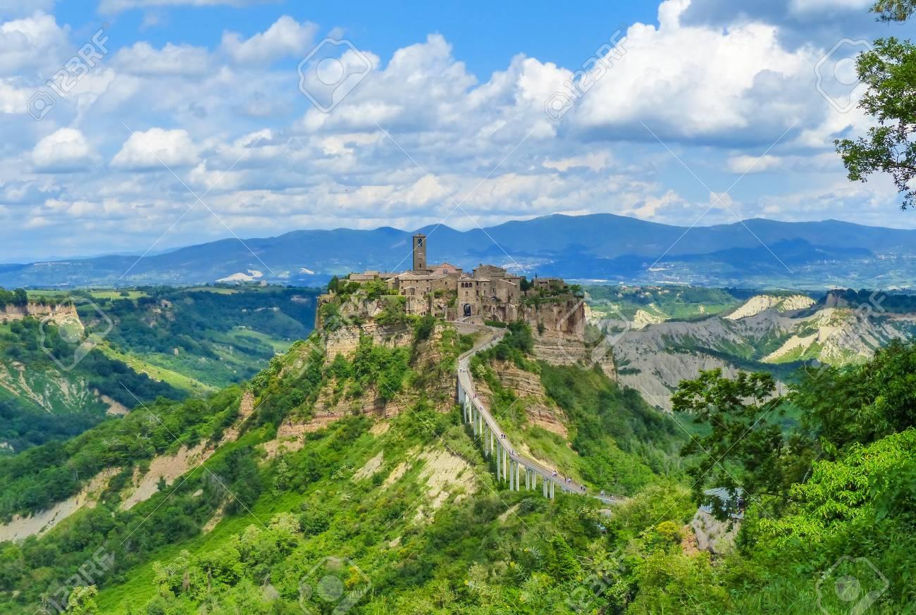 Civita Di Bagnoregio Viterbo Lazio Central Italy The Famous