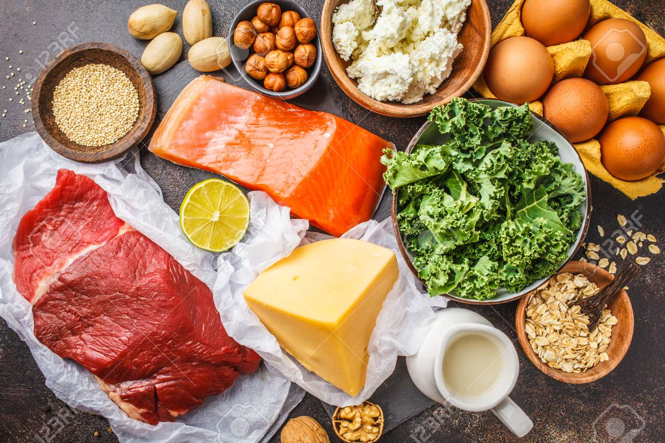 Balanced Diet Food Background Protein Foods Fish Meat Eggs Stock Photo Picture And Royalty Free Image Image 113049154