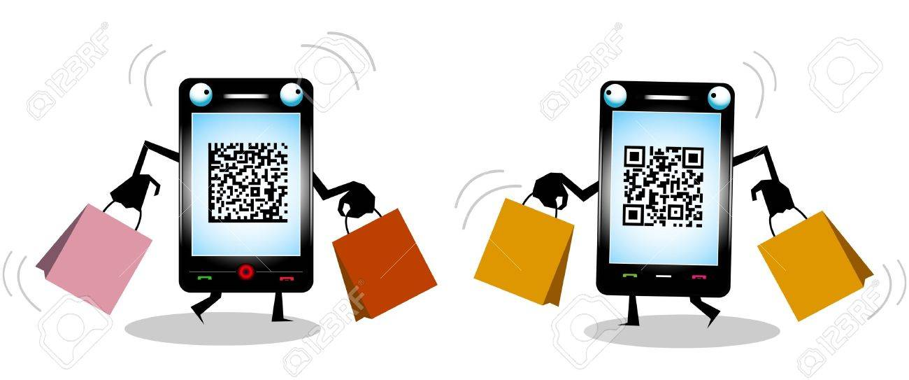 Funny Mobile Phone Characters Stock Vector - 10441512